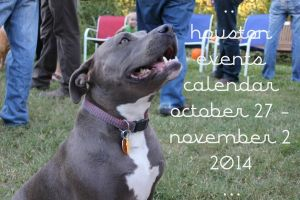 houston events calendar: october 27 - november 2, 2014